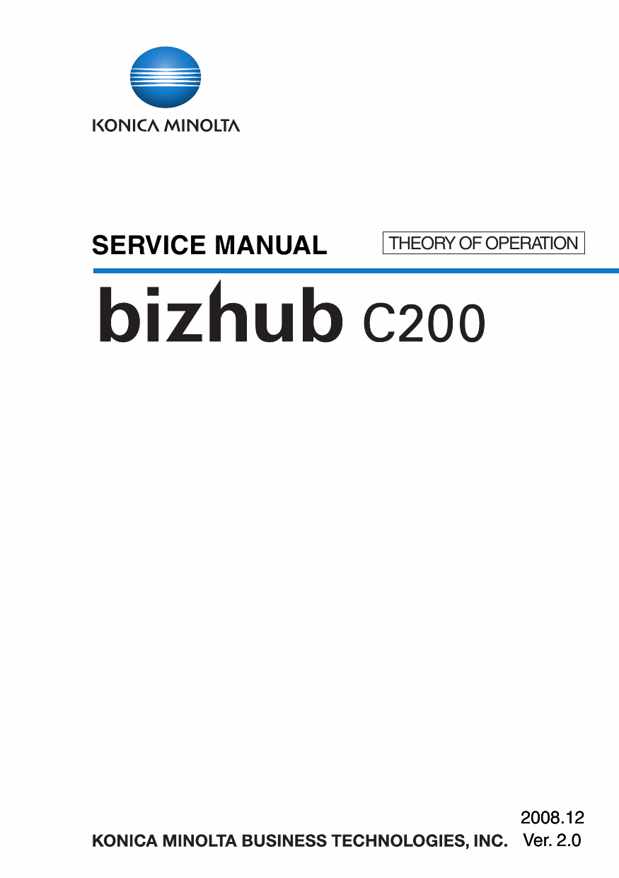 Konica-Minolta bizhub C200 THEORY-OPERATION Service Manual-1